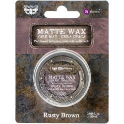 Finnabair Art Alchemy Matte Wax .68 Fluid Ounce Rusty Brown
