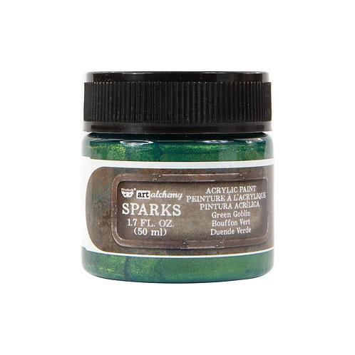 Finnabair Sparks Acrylic Paint 1.7oz Green Goblin