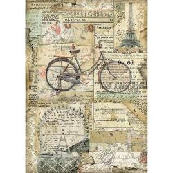 Stamperia Rice Paper Sheet A4 Bicycle