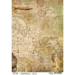 Ciao Bella Rice Paper Sheet A4 ~Nautilus, Voyages Extraordinaires