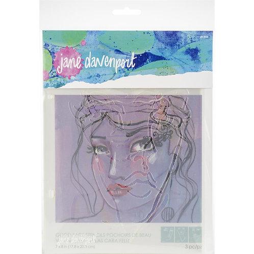 Jane Davenport~ Good Face Stencil