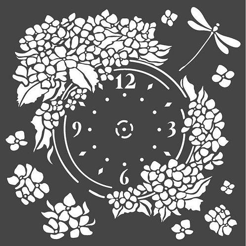 Stamperia~CLOCK -STENCIL 18X18CM