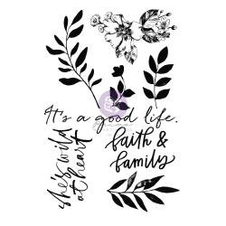 Watercolor Floral Clear Stamps