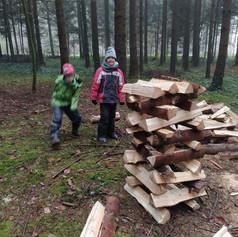 XXXL Kapplaturm im Wald bauen