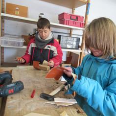 Freies Arbeiten in der Holzwerkstatt