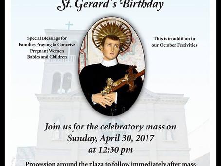 8th Annual St. Gerard Birthday Mass
