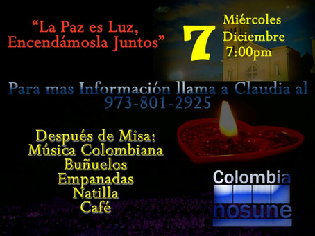 Noche de las velitas...A night of lights to honor the Immaculate Conception
