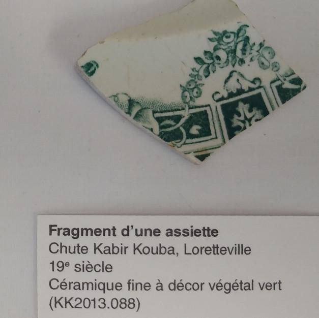 Fragment d'une assiette