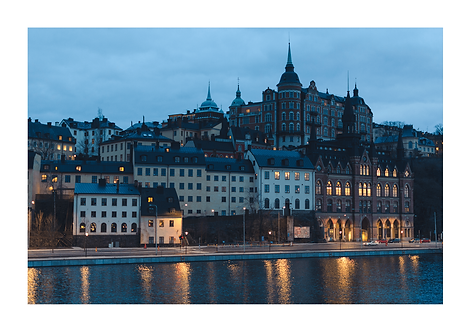 Dusk in Stockholm