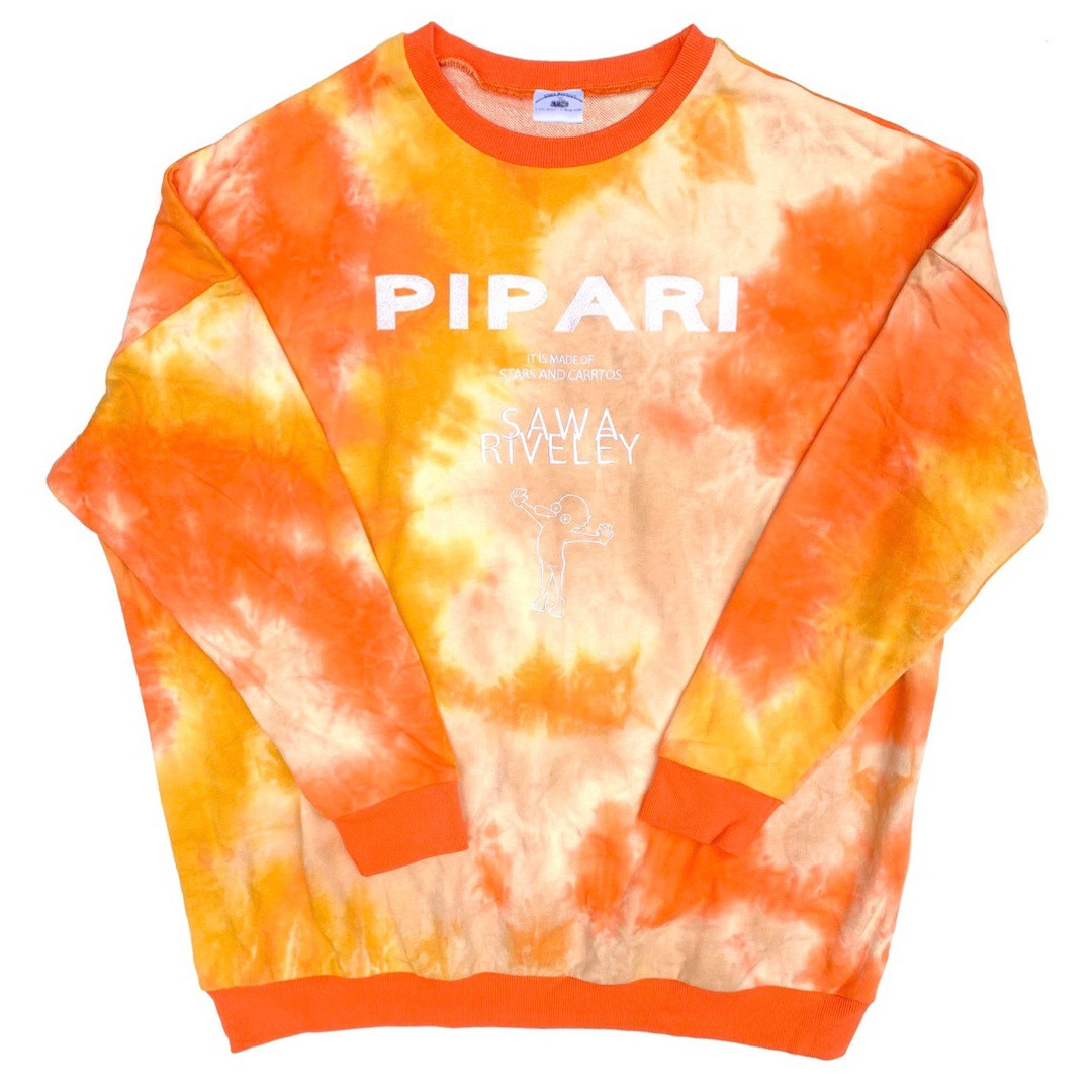 【PIPARIオレンジマーブルトレーナー】