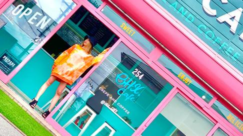 Sawa Riveley & OHX cafe ぴぱりファッションの撮影