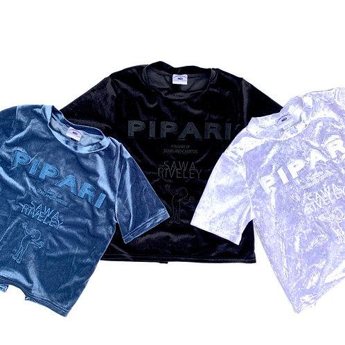 【PIPARIベロアTシャツ】