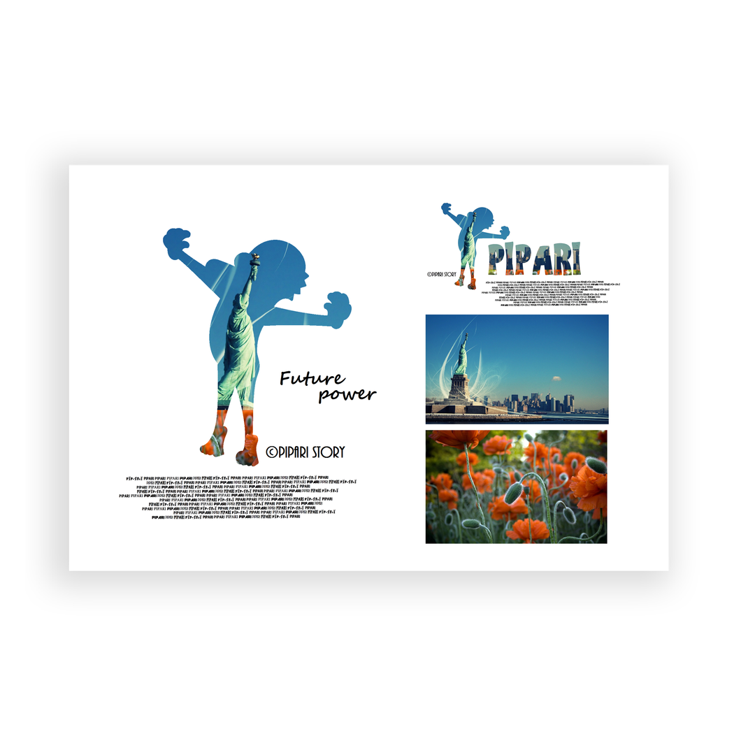 PIPARI Dream ポストカード 『Future power』     サイズ148mm×100mm 厚さ0.27mm   © Sawa Riveley / © PIPARI Dream.               MADE IN THE JAPAN PIPARI Dream ポストカード 『Future power』