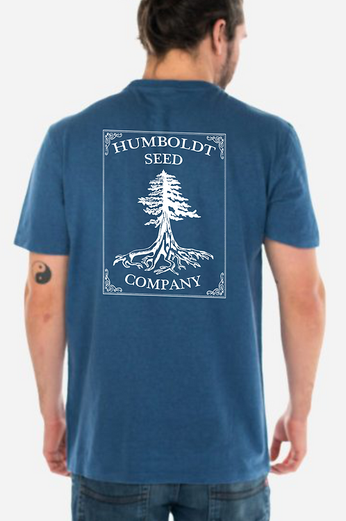 Hemp Humboldt Seed Tree Tee Earth Blue