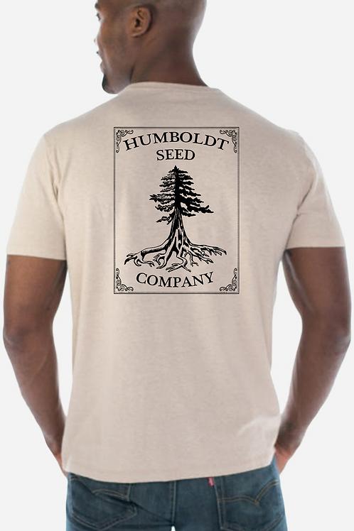 Hemp Humboldt Seed Tree Tee Sand