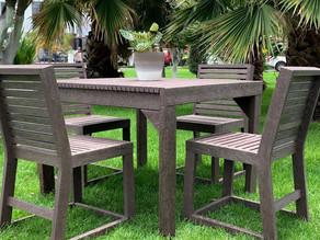 Comedor para jardín ♻️🌳Fabricado 100% de madera plástica. ✅Libre de mantenimiento