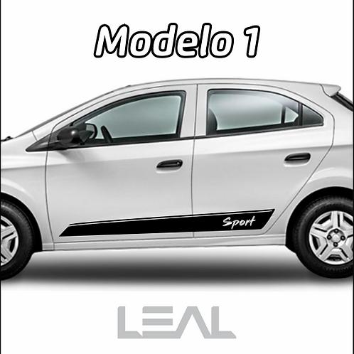 Faixas Adesivas Sport Lateral Carro