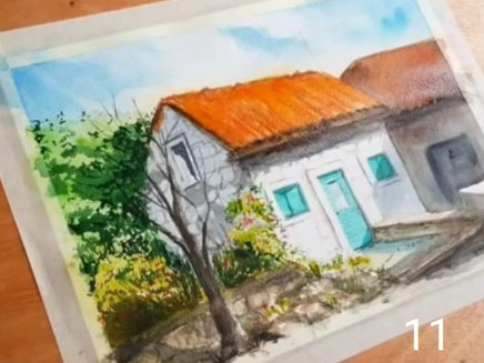 How to draw a Watercolour Landscape ?