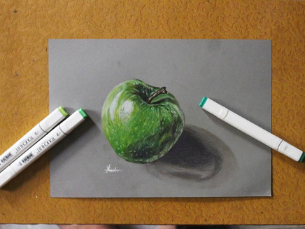 How to sketch a realistic apple ?