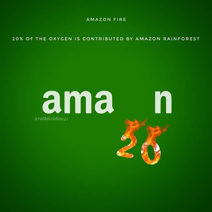 Amazon Fires 20% Oxygen