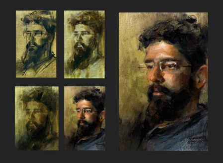 Step-by-Step Oil Painting Portrait of a Man