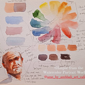 How to compose a Watercolour Portrait in Loose or Impression Style ?