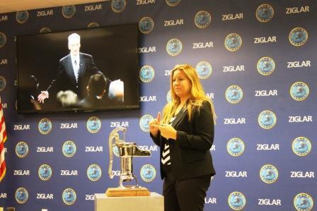 I give  speech at Ziglar U.S.A