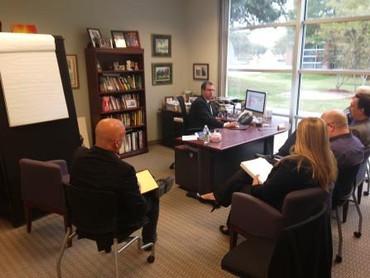 Meeting at Tom Ziglar office