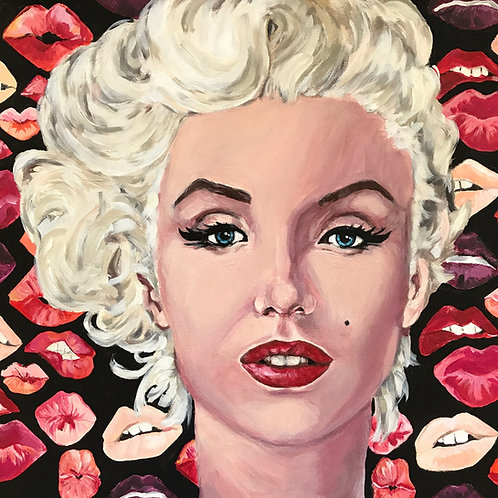 Kisses from Marilyn 18x18