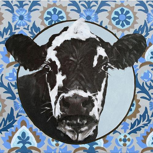 Paisley Cow Canvas Print