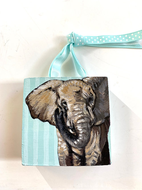 Elephant on Stripes
