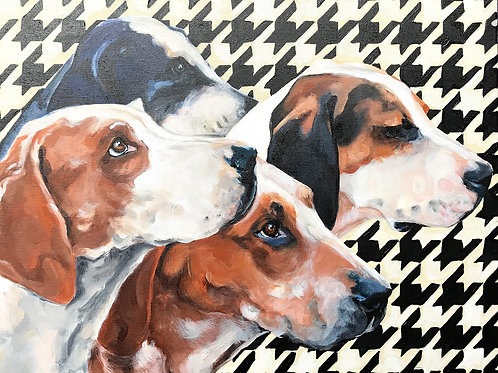 Hounds on Houndstooth Original