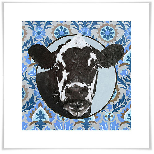 Paisley Cow Giclee Art Print