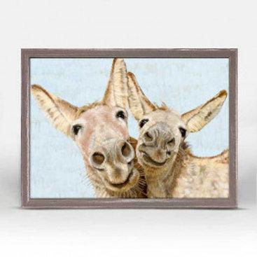 Los Dos Donkeys on Blue