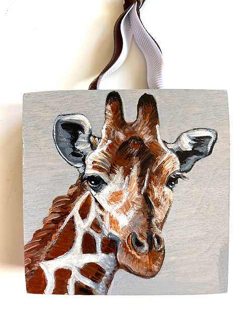 Giraffe on Gray