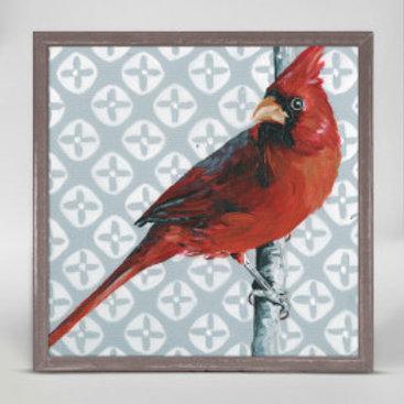 Cardinal on Grey