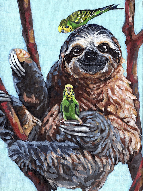 Sam, Libby & the Sloth 9x12