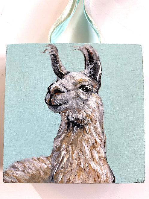 Llama on Turquoise