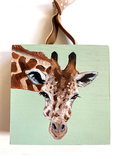 Giraffe on Green