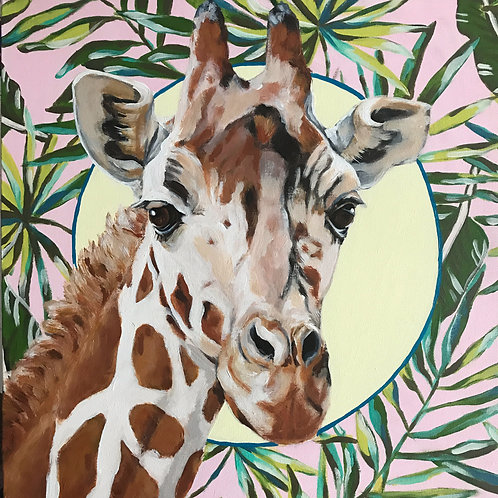 Geraldine the Giraffe - 18x18
