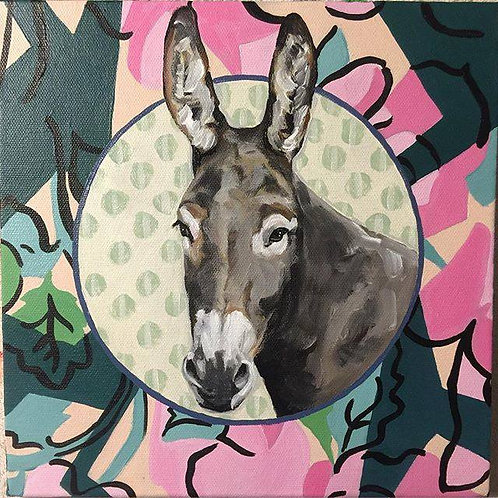 Barbara the Miniature Donkey - 10x10