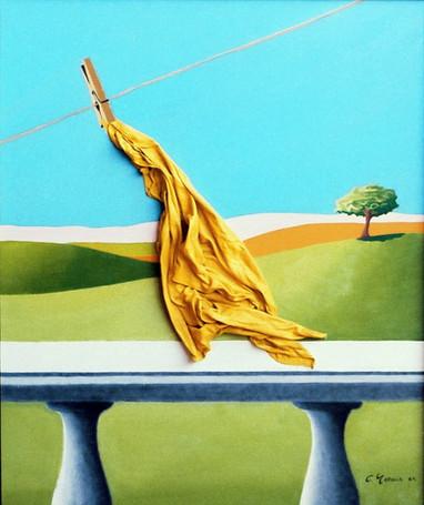 1984.  Pano amarelo