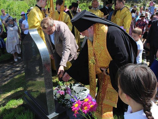 Церемония открытия памятного знака на месте возведения Женского Монастыря в честь Иконы Божией Матер