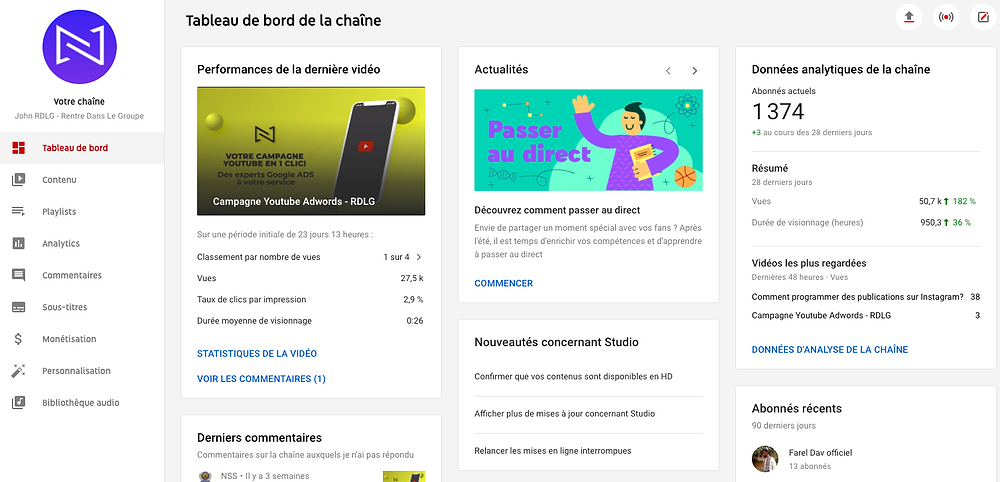 Campagne Youtube Adwords
