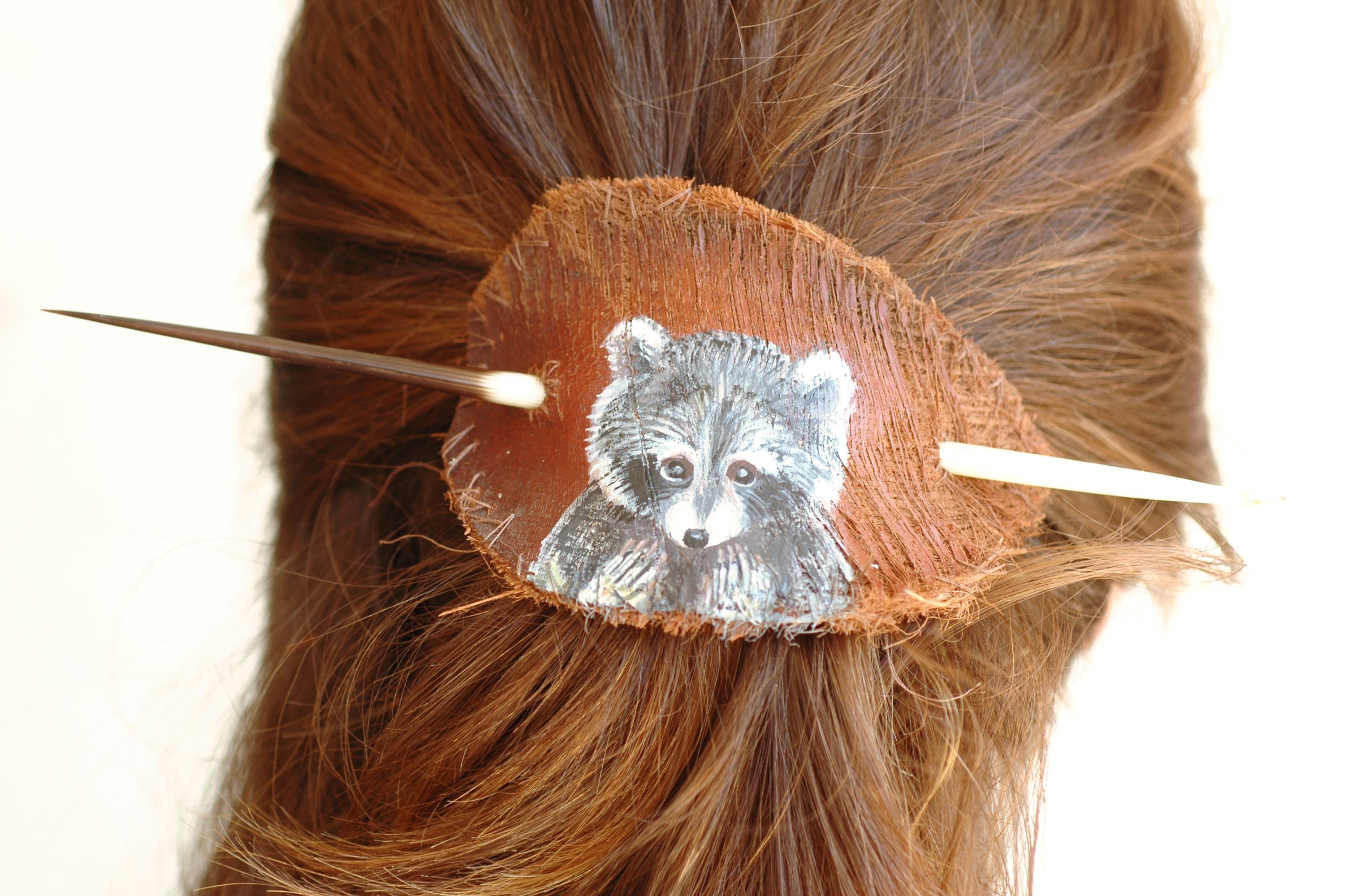 סיכת שיער מחומרים טבעיים