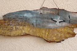 ציור בצבע מים על אקליפטוס