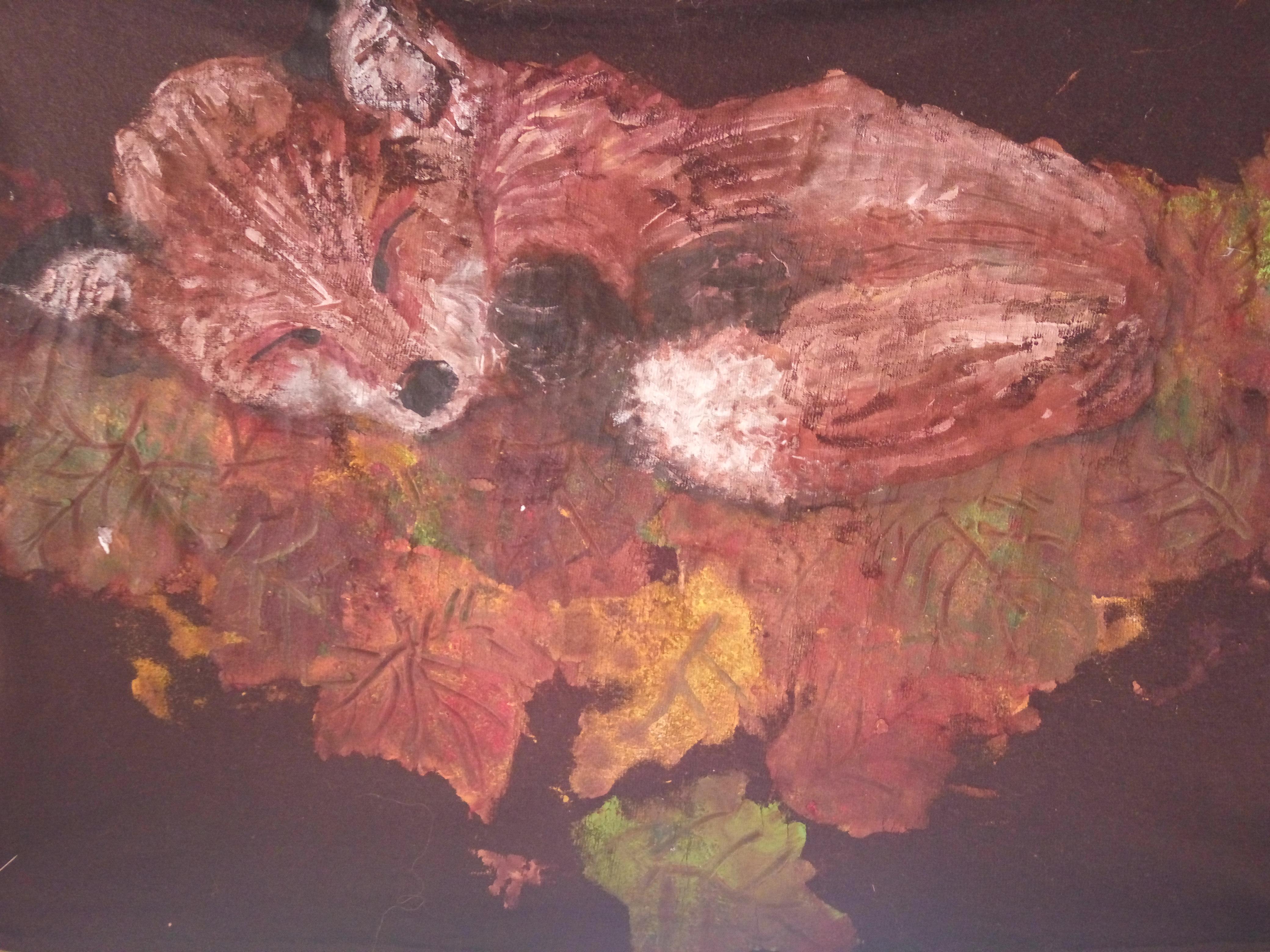 ציור בצבעי טקסטיל על בד