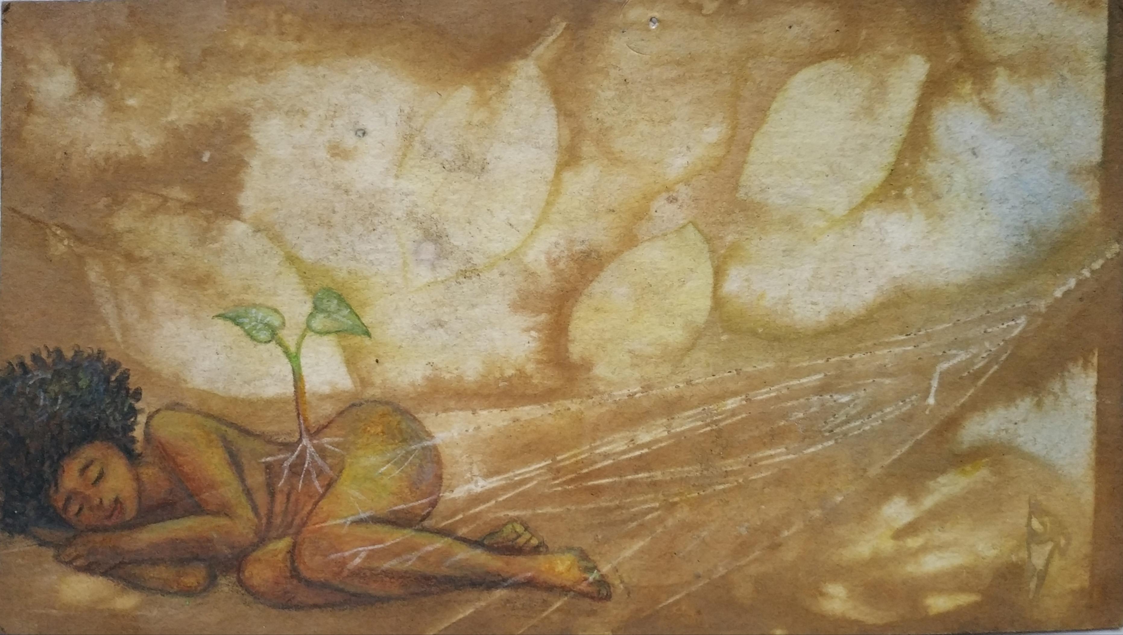 ציור על אקו פרינט