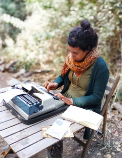 מכונת כתיבה על ההדפס הבוטאני