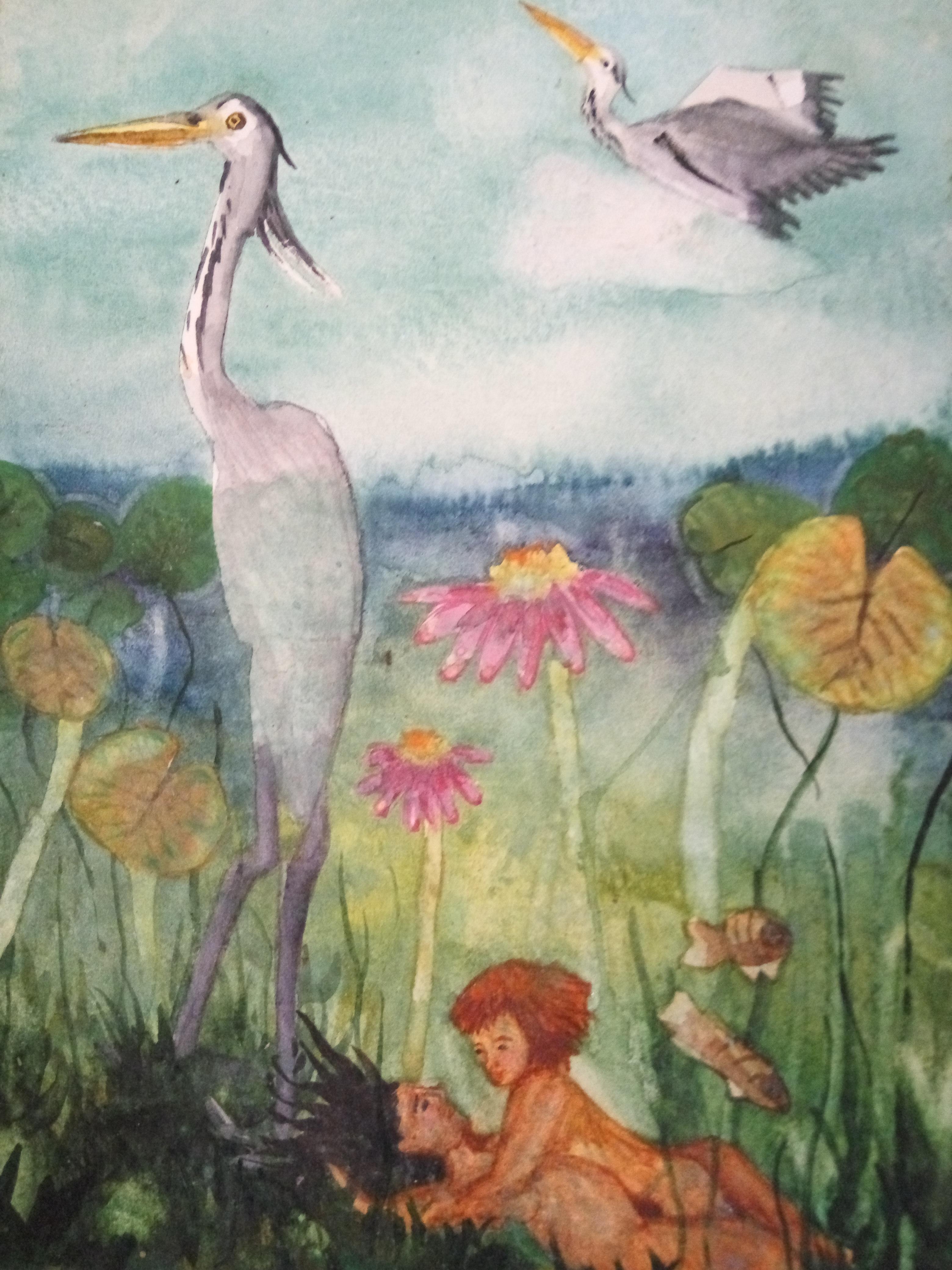 ציור בצבעי מים